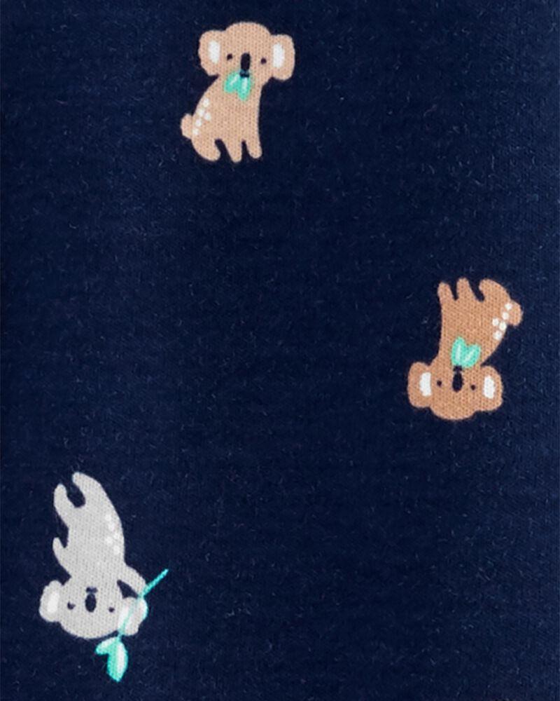 Grenouillère à boutons-pression en coton pour dormir et jouer koala, , hi-res