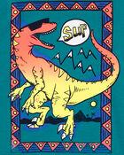 Haut sans manches dinosaure à effet dégradé, , hi-res