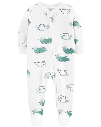 Turtle Snap-Up Cotton Sleep & Play