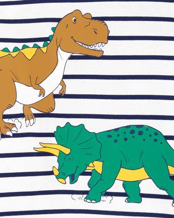 2-Piece Striped Dinosaur Jersey Tee...