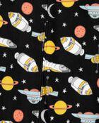 1-Piece Space Fleece Footless PJs, , hi-res