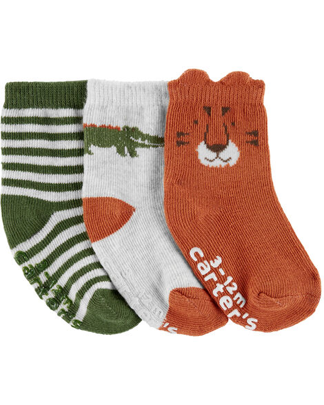3-Pack Animal Socks