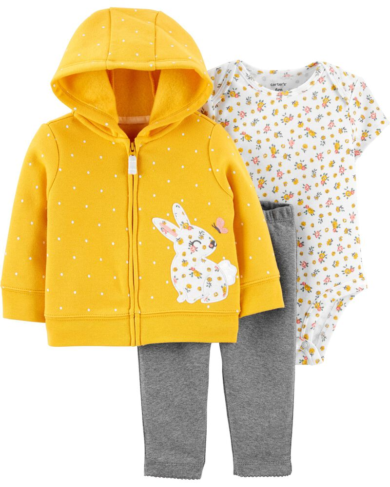 3-Piece Bunny Little Jacket Set, , hi-res