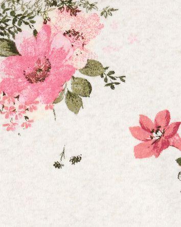 Floral Logo Fleece Hoodie
