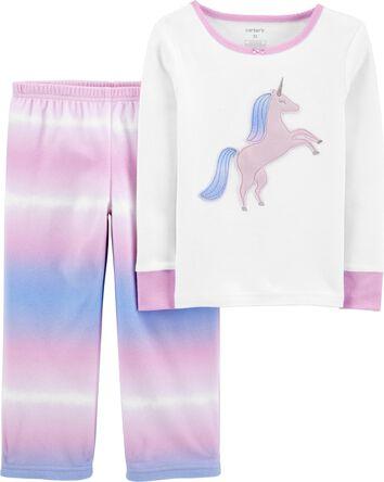 2-Piece Unicorn 100% Snug Fit Cotto...
