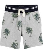Ribbed Palm Tree French Terry Shorts, , hi-res