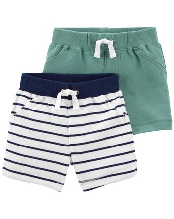 2-Pack Pull-On Cotton Shorts