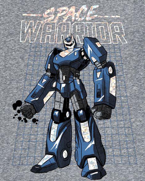 T-shirt en jersey chiné à robot