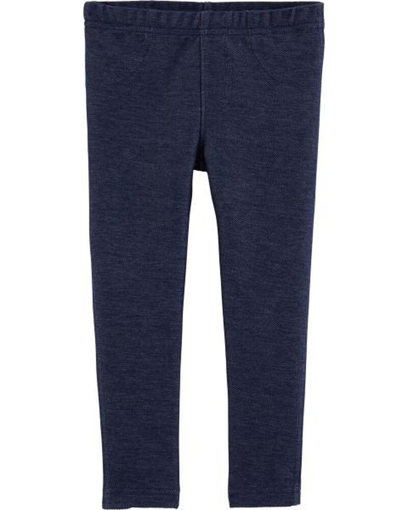Knit Denim Legging, , hi-res