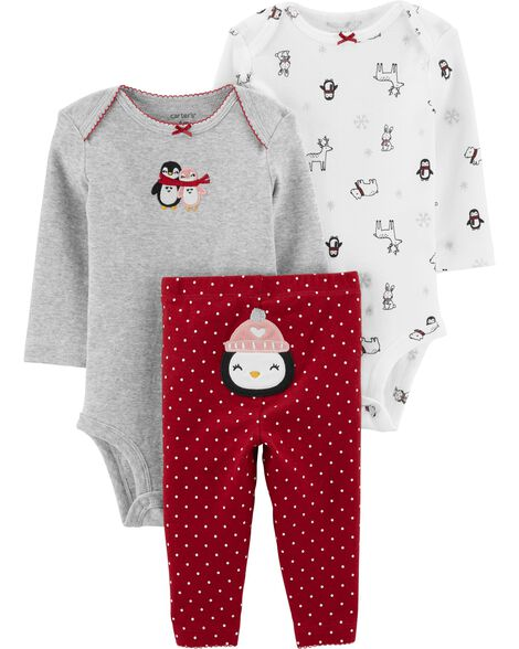 3-Piece Penguin Little Character Set