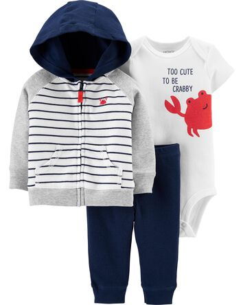 3-Piece Crab Little Jacket Set