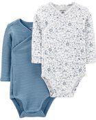 2-Pack Koala Side-Snap Bodysuits, , hi-res