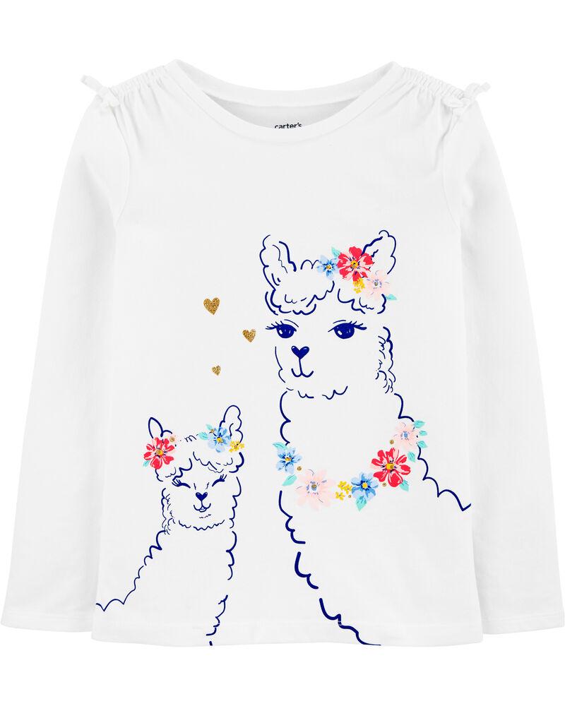 T-shirt en jersey à lama, , hi-res