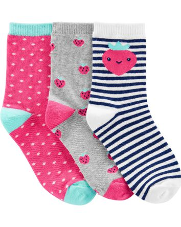 3-Pack Strawberry Ankle Socks