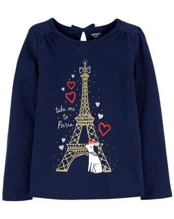 Eiffel Tower Dog Jersey Tee