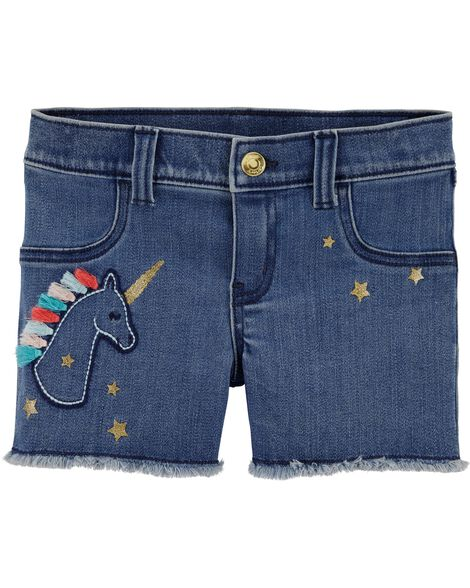 Short à enfiler en denim