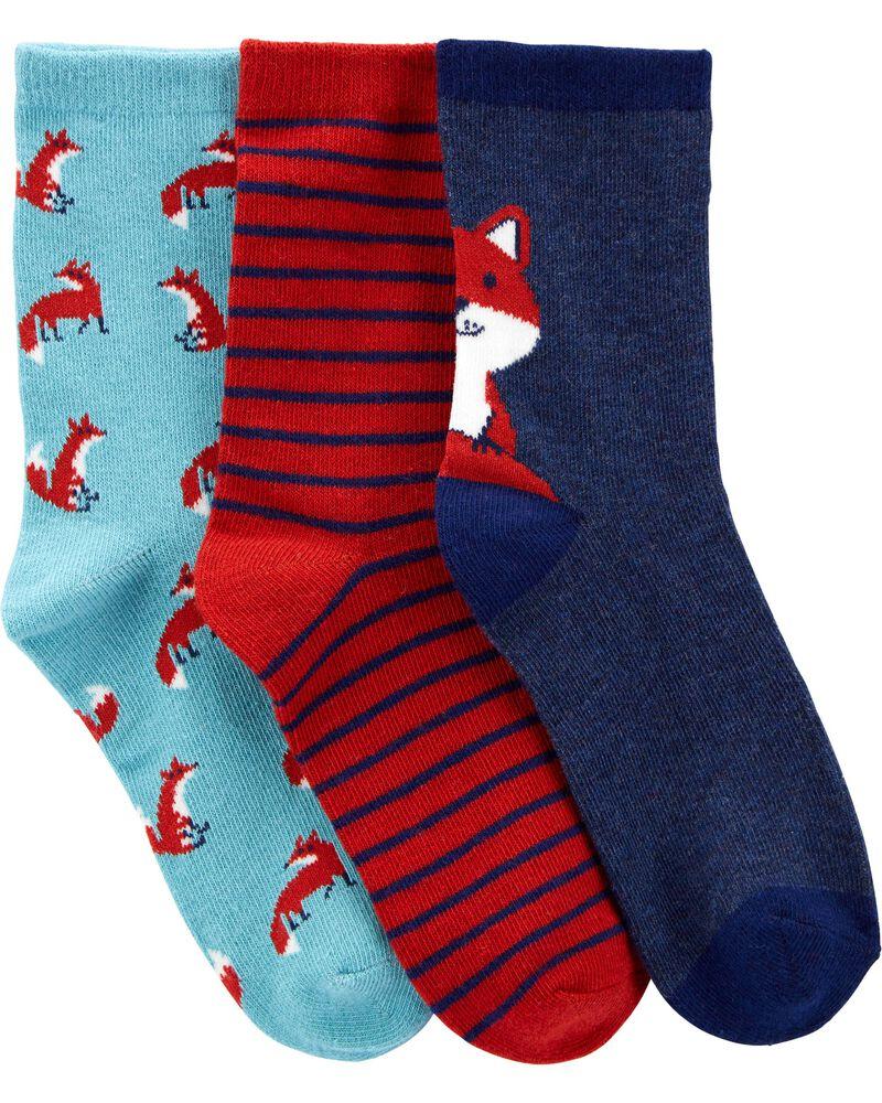 3-Pack Fox Socks, , hi-res
