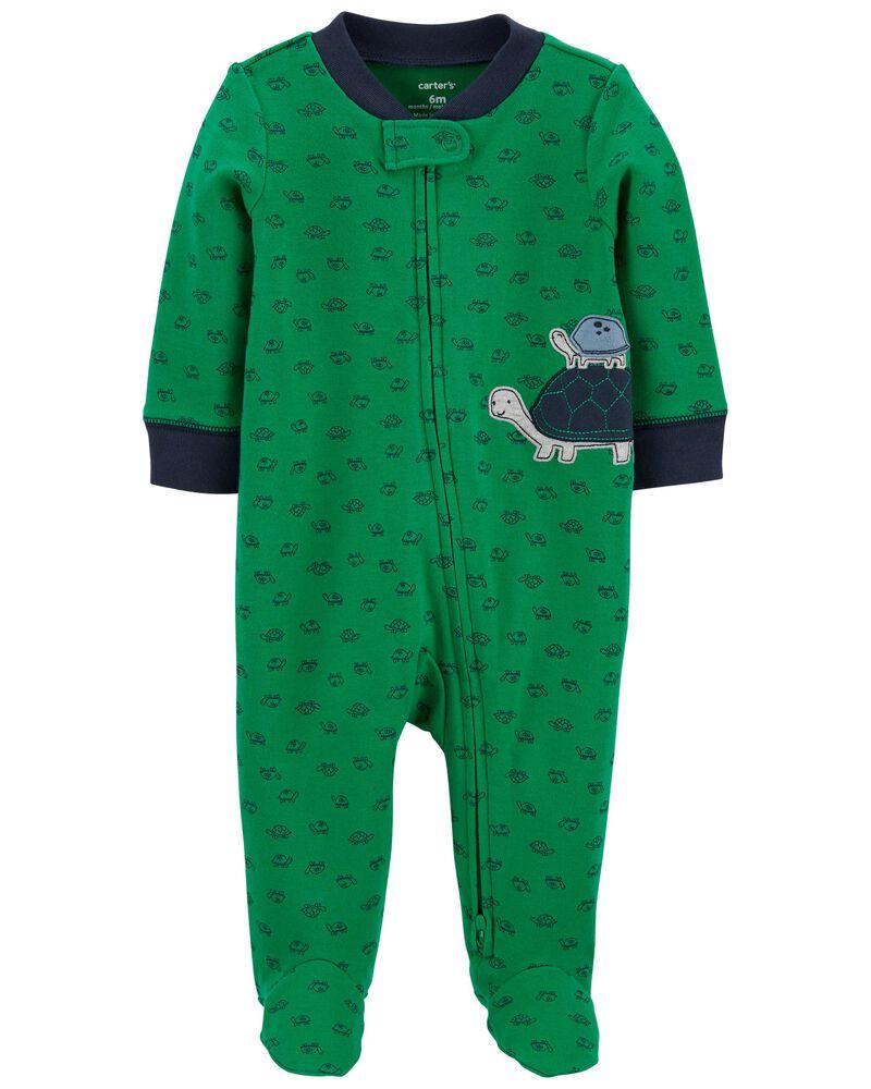 Turtle 2-Way Zip Cotton Sleep & Play, , hi-res