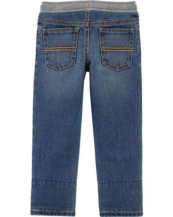 Pantalon en denim doublé de flanell...