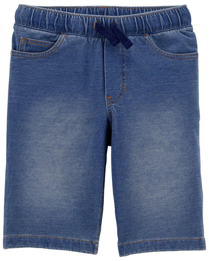 Chambray Pull-On Shorts, , hi-res