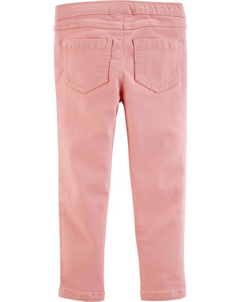 Pull-On Twill Jeggings