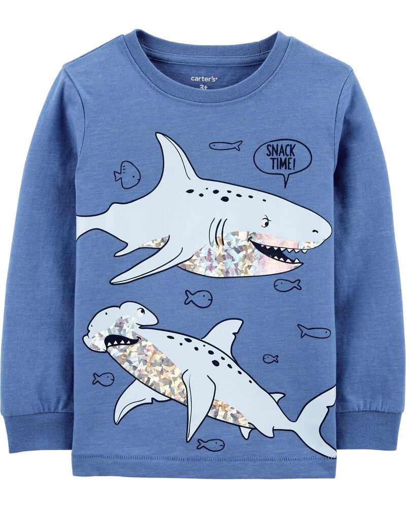 Shark Snow Yarn Tee, , hi-res