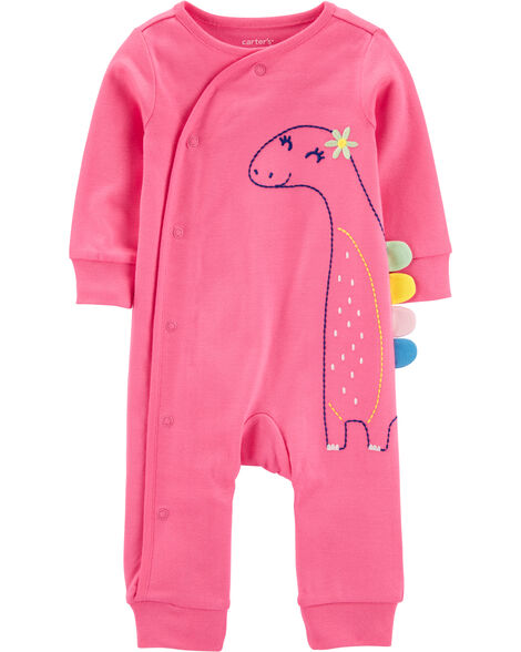Dinosaur Snap-Up Cotton Footless Sleep & Play