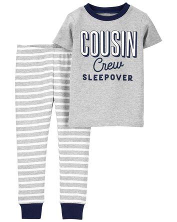 Pyjama 2 pièces en coton ajusté Cou...