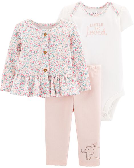 3-Piece Little Cardigan Set