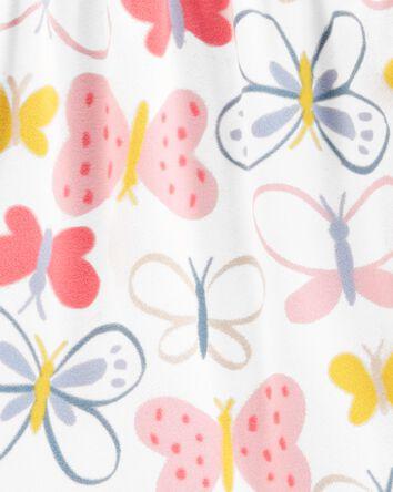 Robe de nuit en molleton à papillon