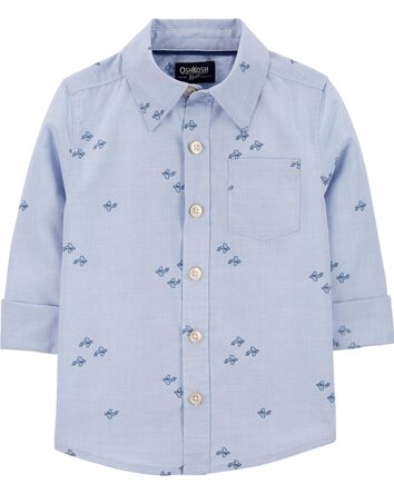 Airplane Button-Front Shirt