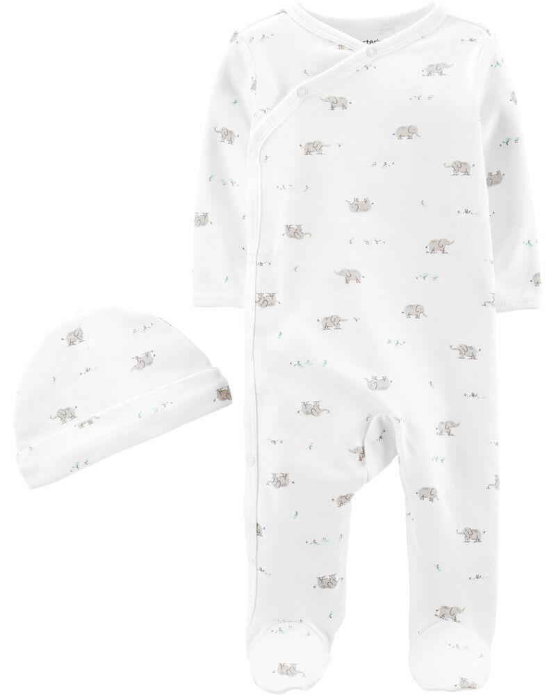 2-Piece Cap & Side-Snap Sleep & Play Set, , hi-res
