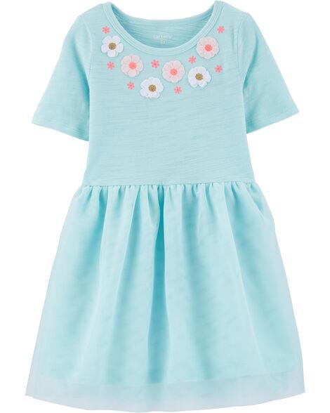 Floral Tutu Jersey Dress