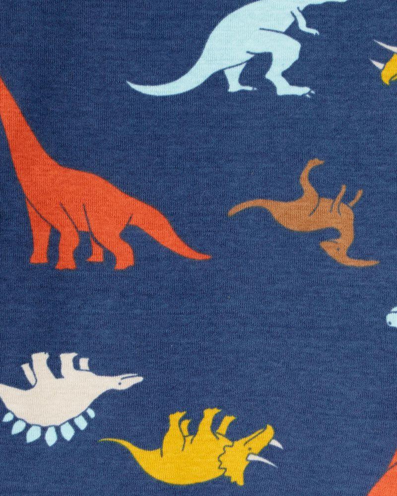4-Piece Dino Snore 100% Snug Fit Cotton PJs, , hi-res