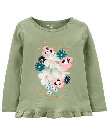Haut fleuri en jersey