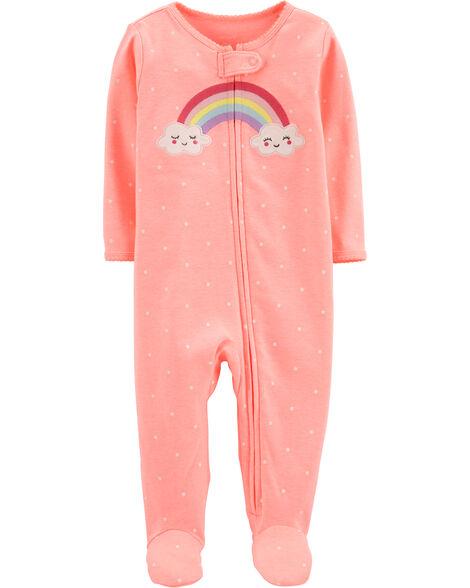 Rainbow Zip-Up Cotton Sleep & Play