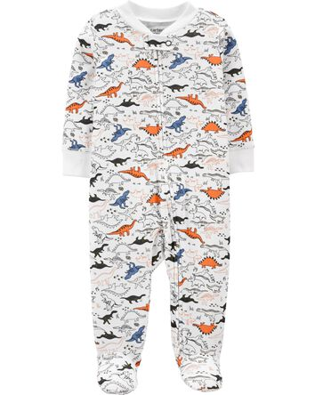 Dinosaur 2-Way Zip Cotton Sleep & P...