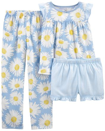 3-Piece Daisy Loose Fit PJs