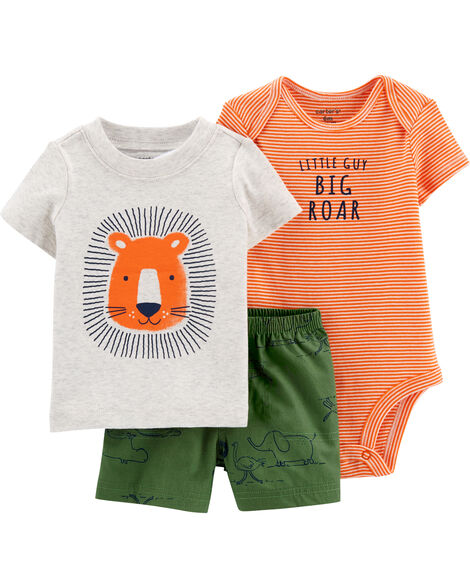 3-Piece Lion Little Short Set