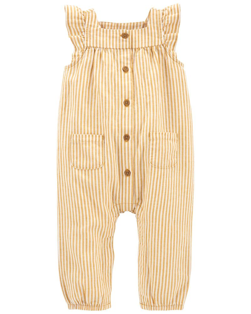 Striped Jumpsuit, , hi-res