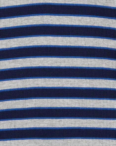 T-shirt isotherme rayé à capuchon