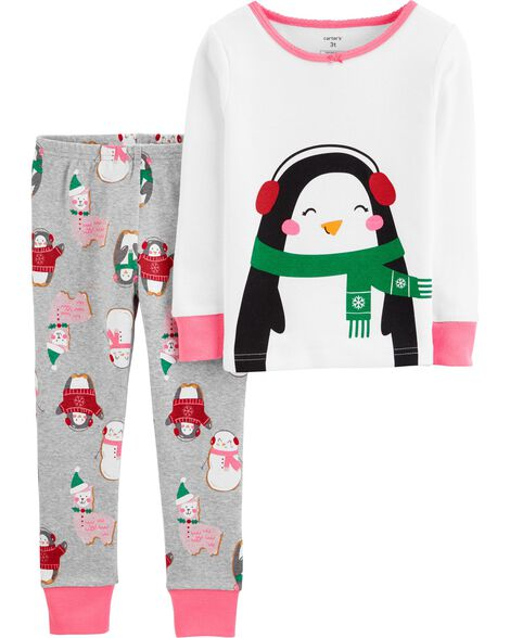 2-Piece Penguin Snug Fit Cotton PJs