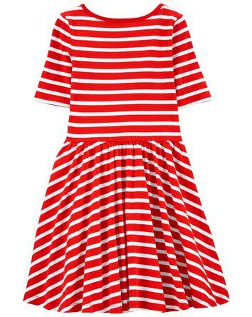 Striped Jersey Dress