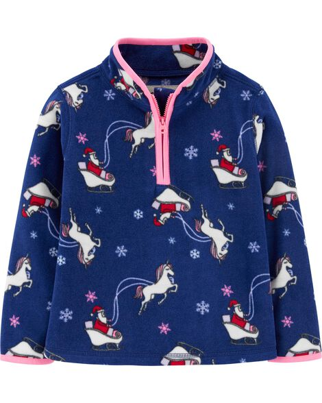 Holiday Santa Fleece Cozie