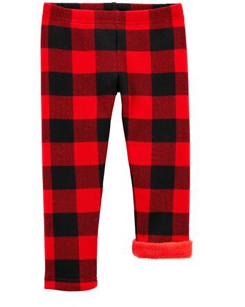 Buffalo Check Cozy Fleece-Lined Leg...