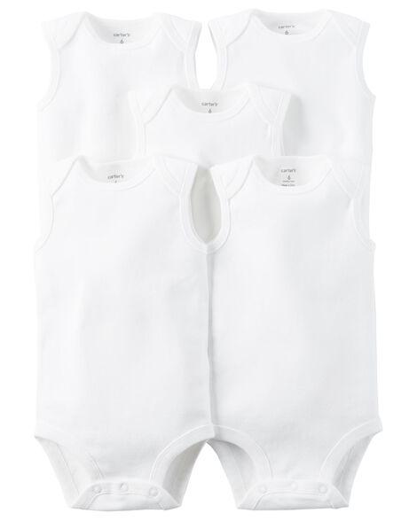 5-Pack Sleeveless Original Bodysuits