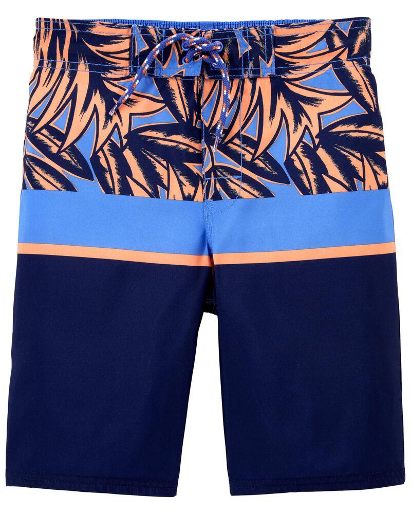 Tropical Palms Swim Trunks, , hi-res