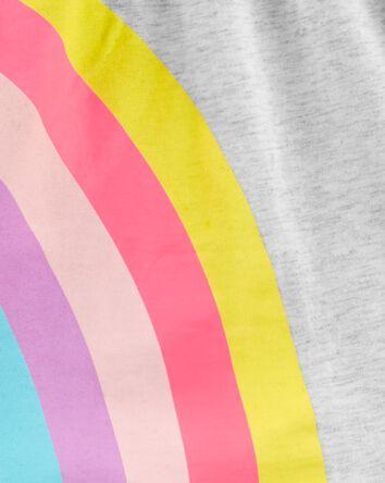 2-Piece Rainbow Jersey Top & Capri...