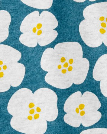 Robe chasuble en coton fleuri