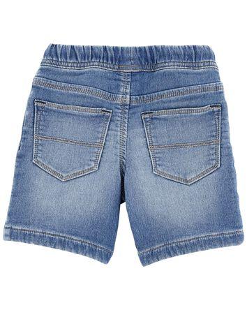 Pull-On Knit Denim Shorts